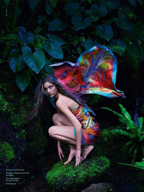 Hermès S/S 2014 campaign by Hans Silvester