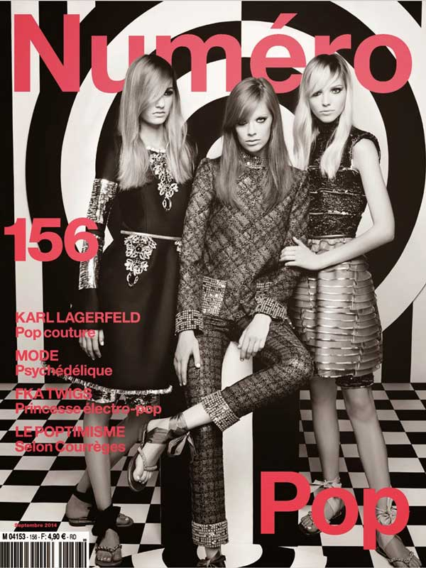 Numero cover September 14 issue by Karl Lagerfeld