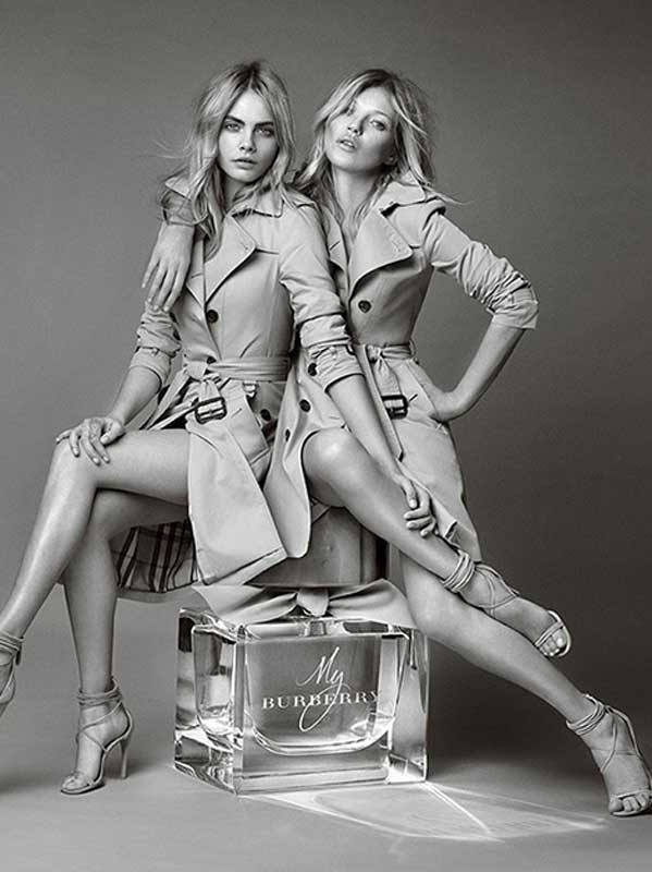 Kate Moss & Cara Delevingne for My Burberry fragrance by Mario Testino