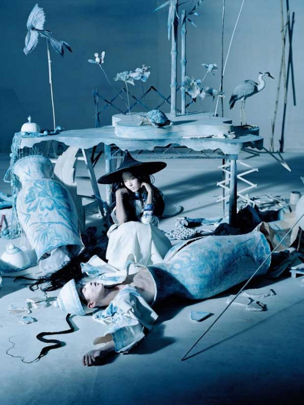 Fei Fei Sun & Xiao Wen for Vogue China Dec 14 by Tim Walker