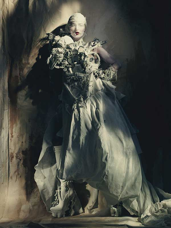 Kate Moss for W magazine April 15 issue by Paolo Roversi