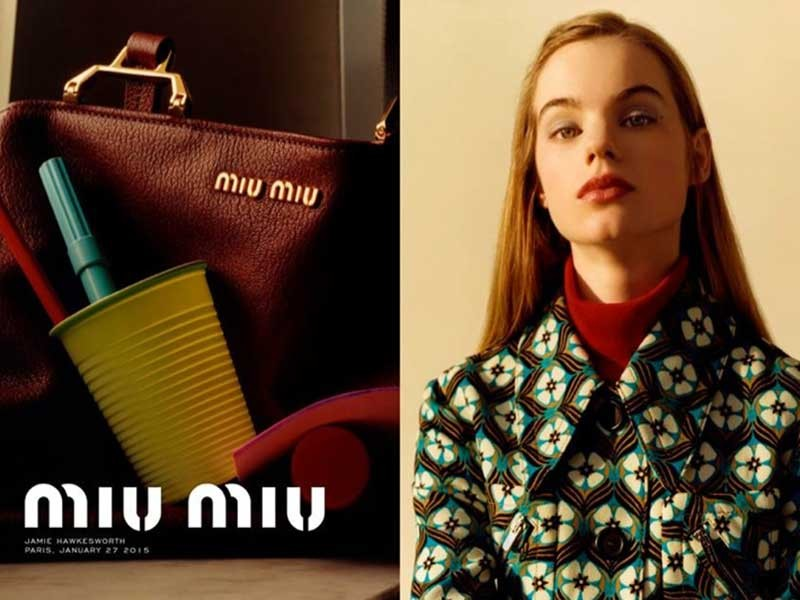 Miu Miu pre-fall 2015 Campaign by Jamie Hawkesworth