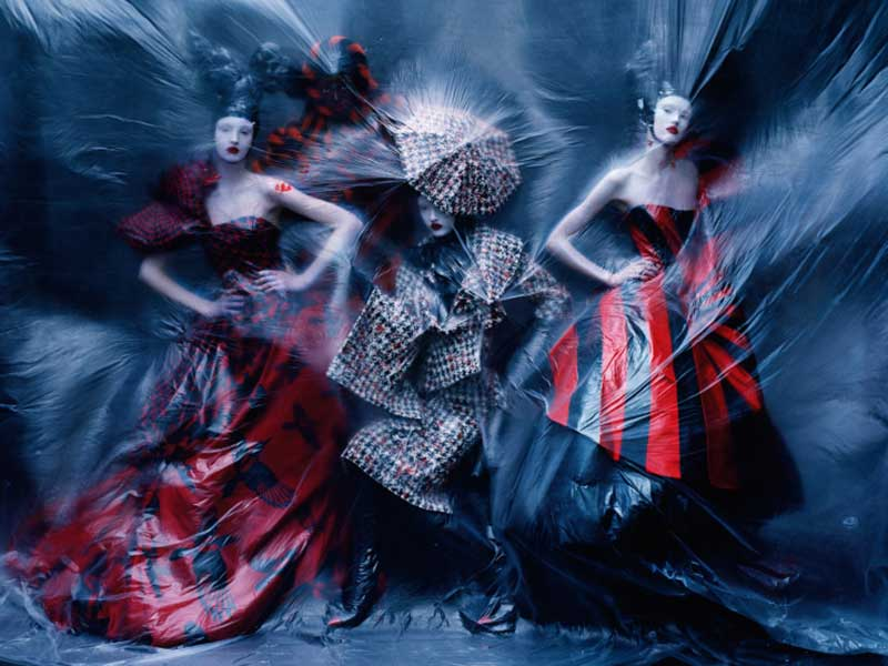 Dark Angel for Alexander McQueen Savage Beauty exhibition by Tim Walker