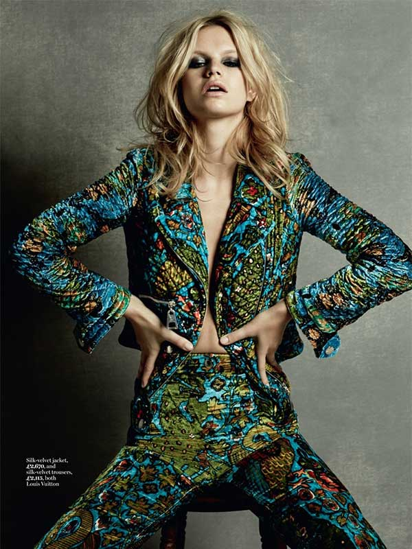 70s retro vibe in Marie Claire UK Spring 15 issue by David Roemer