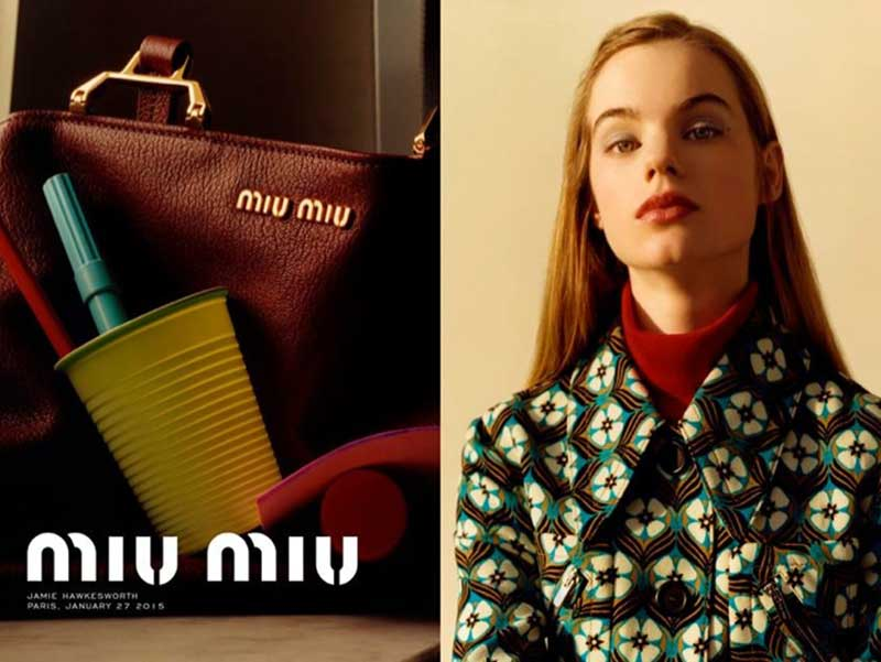 Miu Miu pre-fall 2015 Campaign by Jamie Hawkesworth
